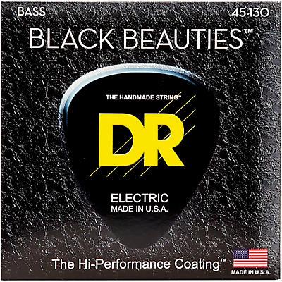 DR Strings BLACK BEAUTIES  Black Coated 5-String Bass Strings Medium (45-130)