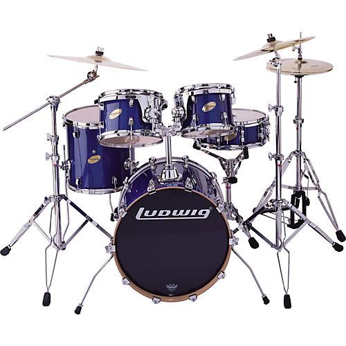 Ludwig BLEM LC305E CS Custom Elite Jazz 5pc Drum Set Blue