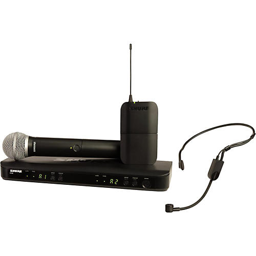 Shure BLX1288 Combo System with PGA31 Headset microphone and PG58 handheld microphone Condition 1 - Mint Band H10