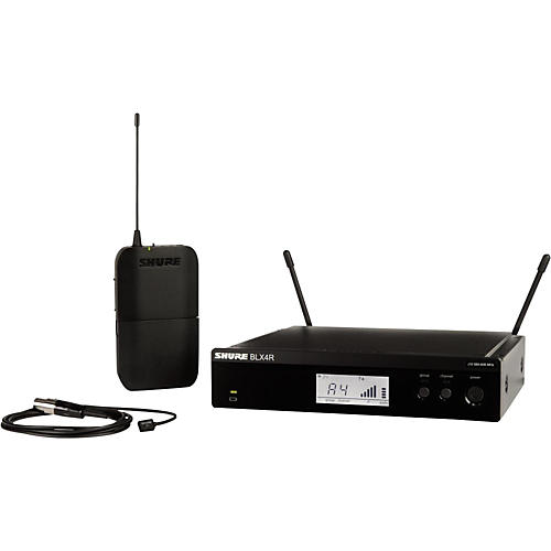 Shure BLX14R/W93 Wireless Lavalier System with WL93 Omnidirectional Condenser Miniature Lavalier Mic Condition 1 - Mint Band H9