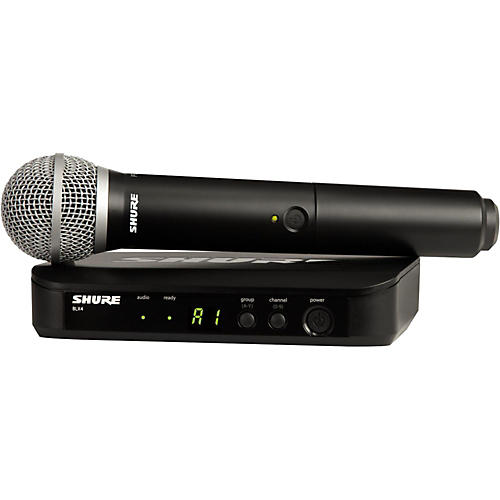 Shure BLX24 Handheld Wireless System With PG58 Capsule Band H9