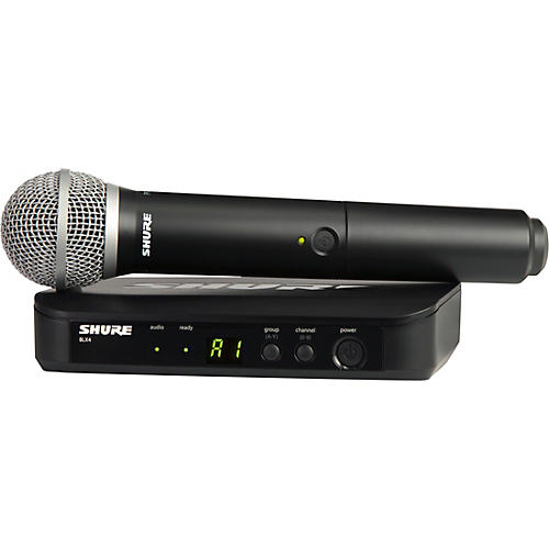 Shure BLX24/PG58 Handheld Wireless System with PG58 Capsule Condition 1 - Mint Band H11