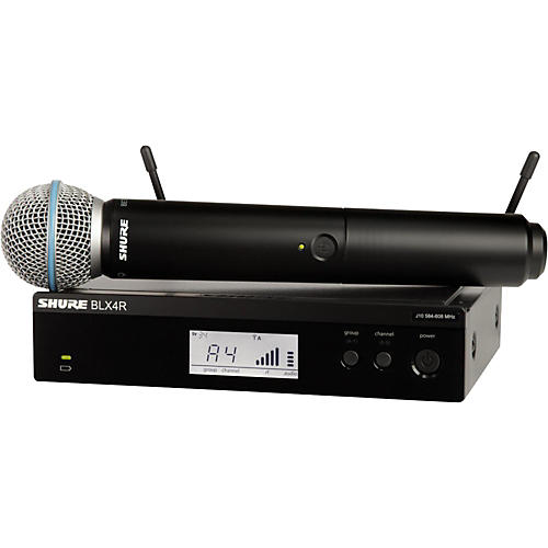 Shure BLX24R B58 Wireless System With Rackmountable Receiver And Beta 58A Microphone Capsule