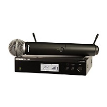BLX24R/B58 Wireless System with Rackmountable Receiver and Beta 58A Microphone Capsule Band J10