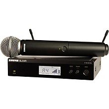 Shure BLX24R/SM58 Wireless System with Rackmountable Receiver and SM58 Microphone Capsule