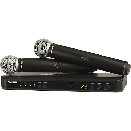 BLX288/B58 Wireless Dual Vocal System with two Beta 58A Handheld Transmitters