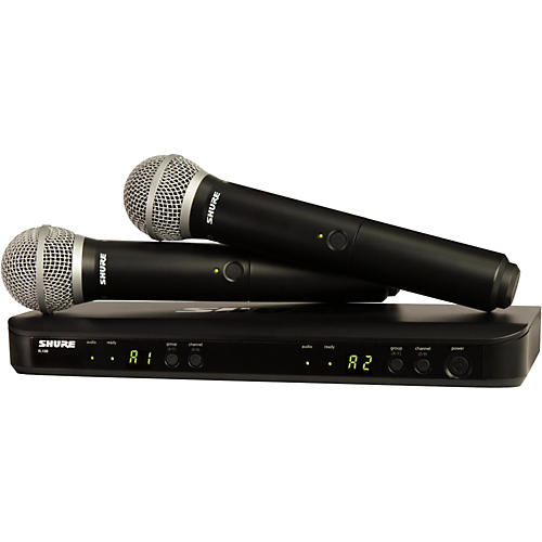 Shure BLX288/PG58 Dual-Channel Wireless System with Two PG58 Handheld Transmitters Band H10