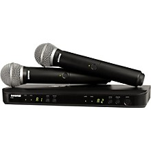Open Box Shure BLX288/PG58 Dual-Channel Wireless System with Two PG58 Handheld Transmitters