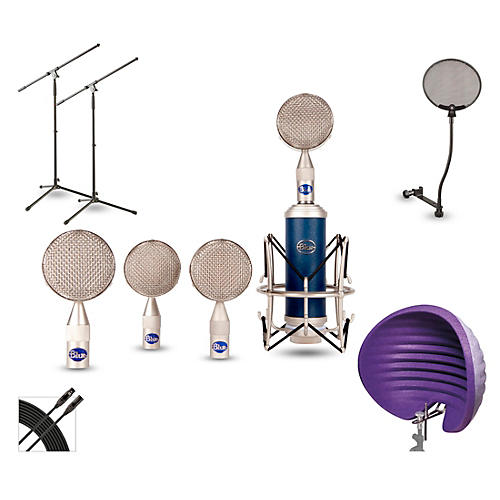Blue BRS1 HALO Vocal Shield Stand 2-Pack Pop Filter and Cable Kit