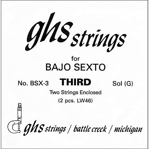 GHS BSX3 Bajo Sexto Guitar String Pair