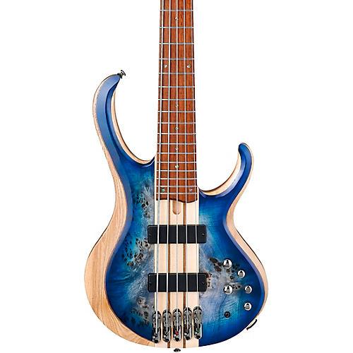 Ibanez BTB845 5-String Electric Bass Cerulean Blue Burst Low Gloss