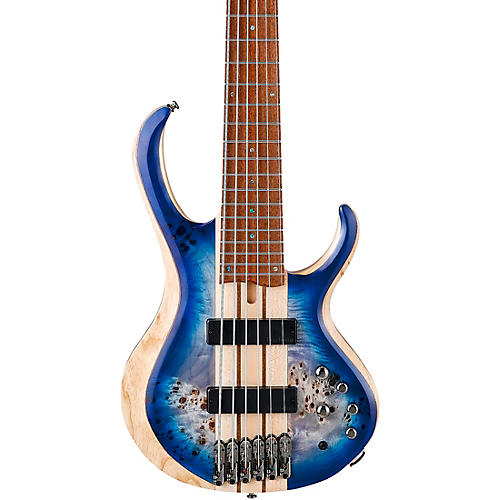 Ibanez BTB846 6-String Electric Bass Guitar Cerulean Blue Burst Low Gloss