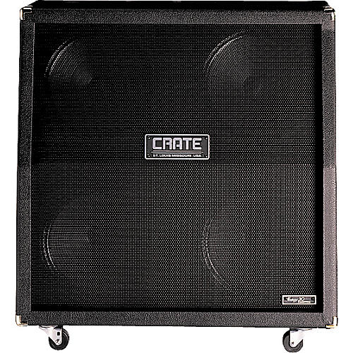 Crate BV412SVB 4x12 Angled Cab with Vintage 30 Speakers