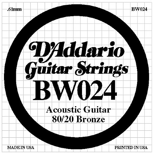 D'Addario BW024 80/20 Bronze Acoustic Guitar Strings