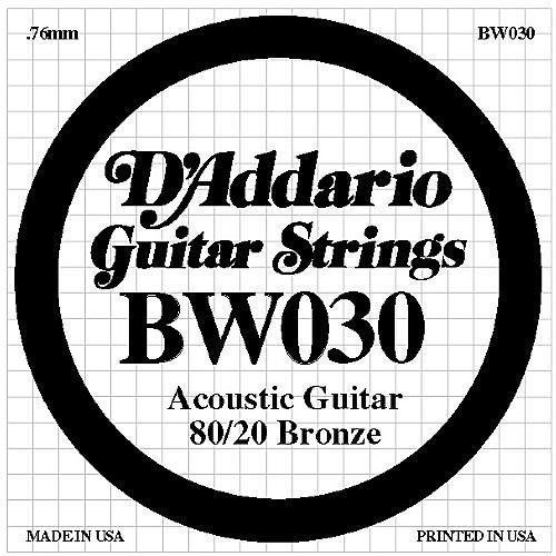 D'Addario BW030 80/20 Bronze Guitar Strings