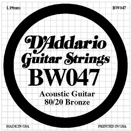 D'Addario BW047 80/20 Bronze Guitar Strings