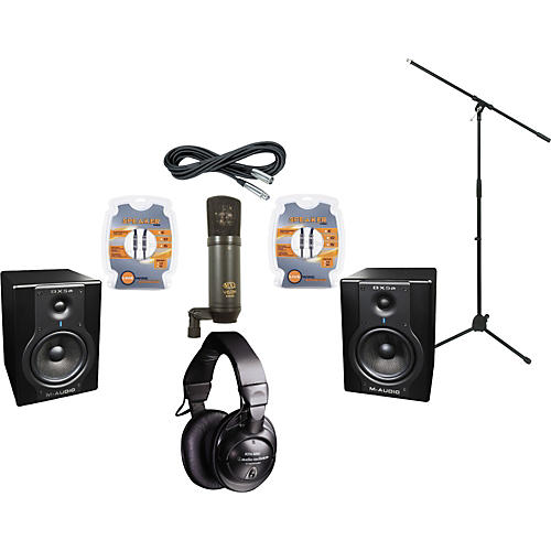 M-Audio BX5A Studio Monitors / MXL V63M Microphone / Audio-Technica ATH-M45 Headphones Recording Package