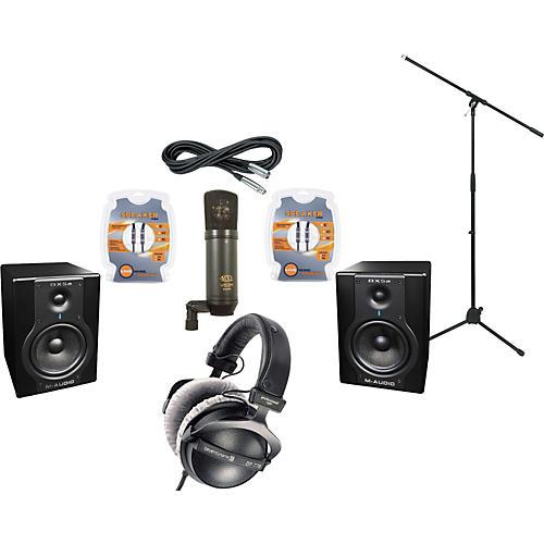 M-Audio BX5A Studio Monitors / MXL V63M Microphone / Beyerdynamic DT-770 Pro-80 Headphones Recording Package