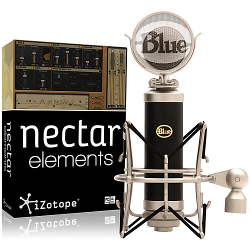 BLUE Baby Bottle Mic with Nectar Elements Bundle