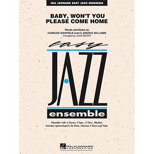 Hal Leonard Baby Won't You Please Come Home - Easy Jazz Ensemble Series Level 2