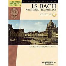 G. Schirmer Bach - Nineteen Little Preludes Schirmer Performance Edition BK/Audio Online Edited by Christos Tsitsaros
