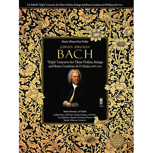 Music Minus One Bach: Triple Concerto for Three Violins in C Major, BWV 1064 Music Minus One BK/CD