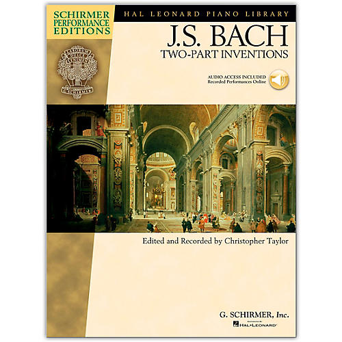 G. Schirmer Bach Two-Part Inventions Book/Online Audio - Schirmer Performance Edition By Bach / Taylor