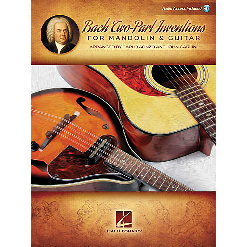 Hal Leonard Bach Two-Part Inventions for Mandolin & Guitar Fretted Series Softcover Audio Online