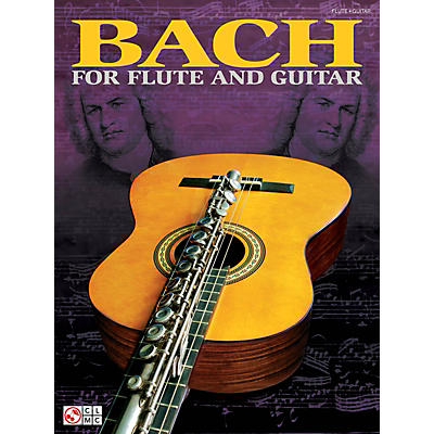 Cherry Lane Bach for Flute and Guitar Guitar Series Softcover