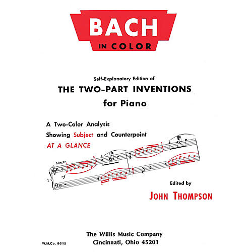 Willis Music Bach in Color Willis Series by Johann Sebastian Bach (Level Early Advanced)