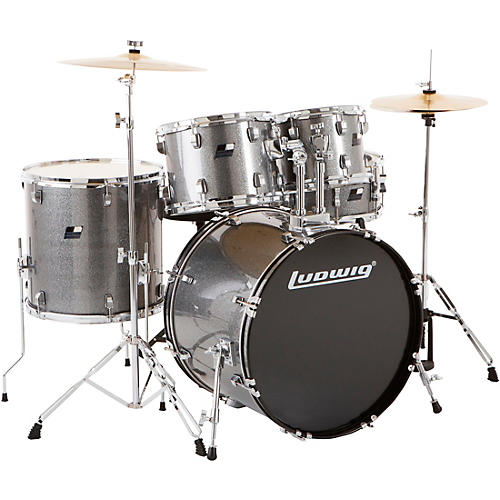 Ludwig Backbeat Complete 5-Piece Drum Set with Hardware and Cymbals