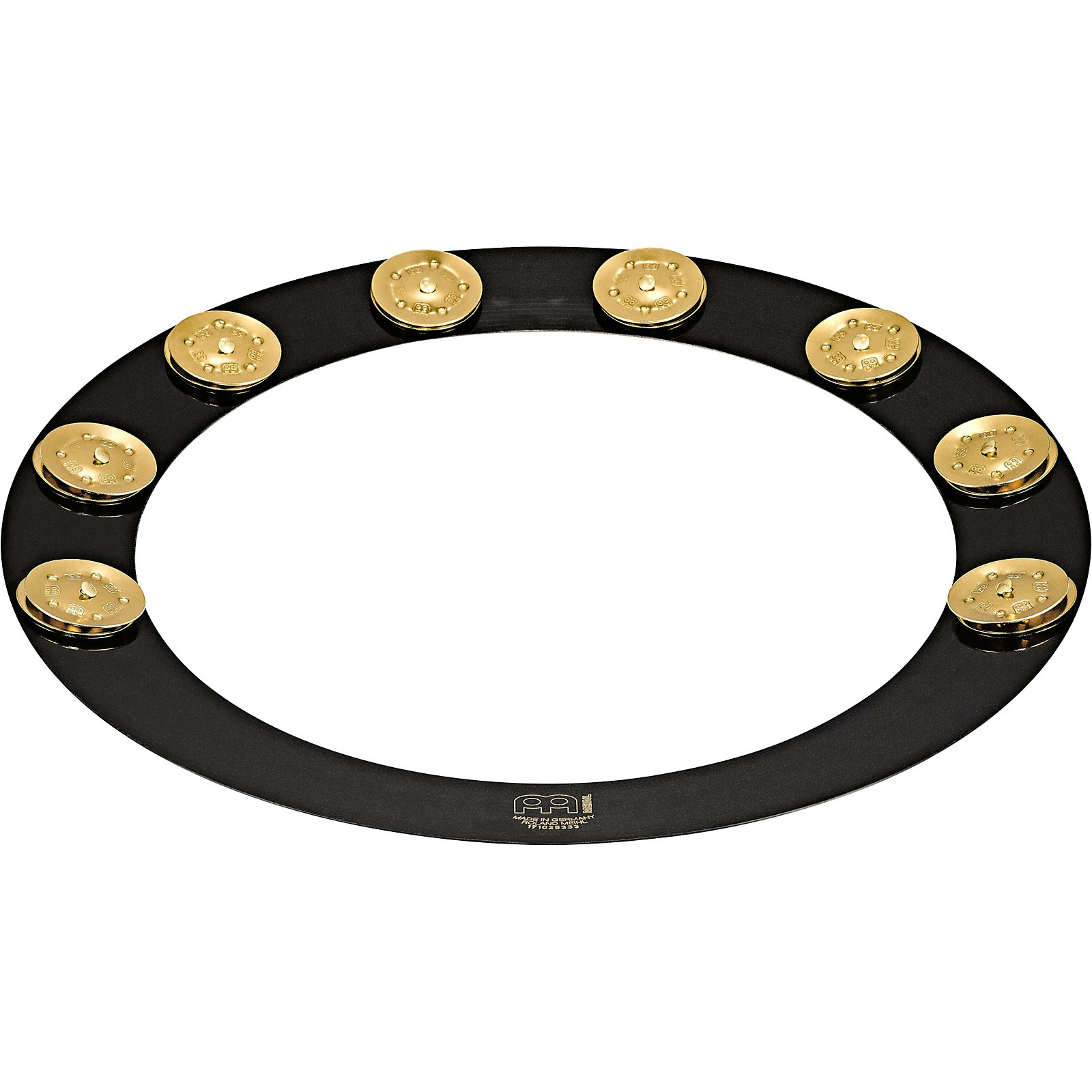Meinl Backbeat Pro Tambourine with Brass Jingles, 14