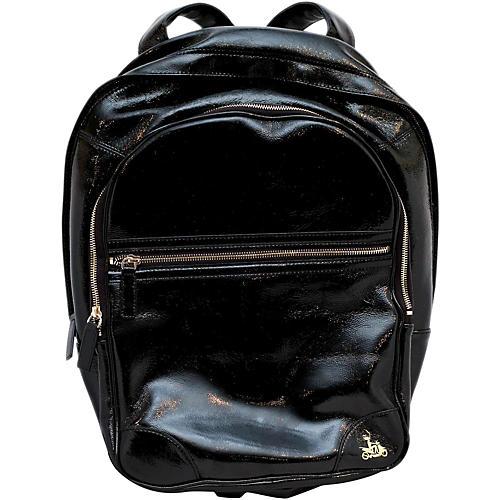 Fluterscooter Backpack Couture Gig Bag Regular Black Patent Leather