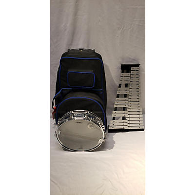 Mapex Backpack Snare Drum/Bell Percussion Kit, Rolling Bag