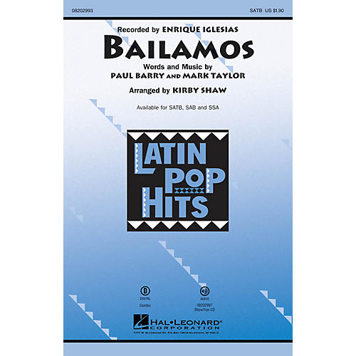 Hal Leonard Bailamos ShowTrax CD by Enrique Iglesias Arranged by Kirby Shaw