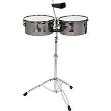 Open BoxSound Percussion Labs Baja Percussion Set of Timbales with Cowbell and Adjustable Stand