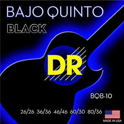 DR Strings Bajo Quinto Black Coated 10 String