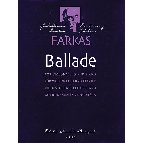 Editio Musica Budapest Ballade (Violoncello and Piano) EMB Series