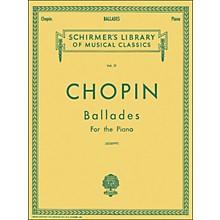 G. Schirmer Ballades for Piano By Chopin