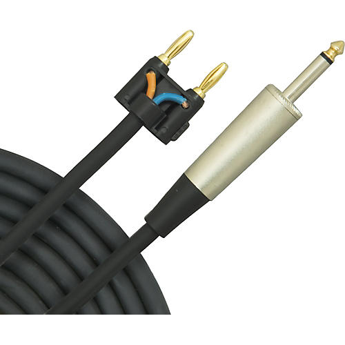 Musicians Gear Banana To 14 Speaker Cable 14 Gauge 10 Ft