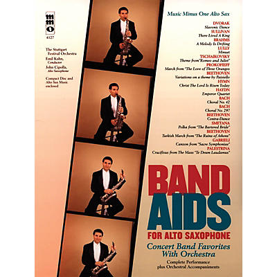Music Minus One Band Aids for Alto Saxophone Music Minus One Series Book with CD  by Various