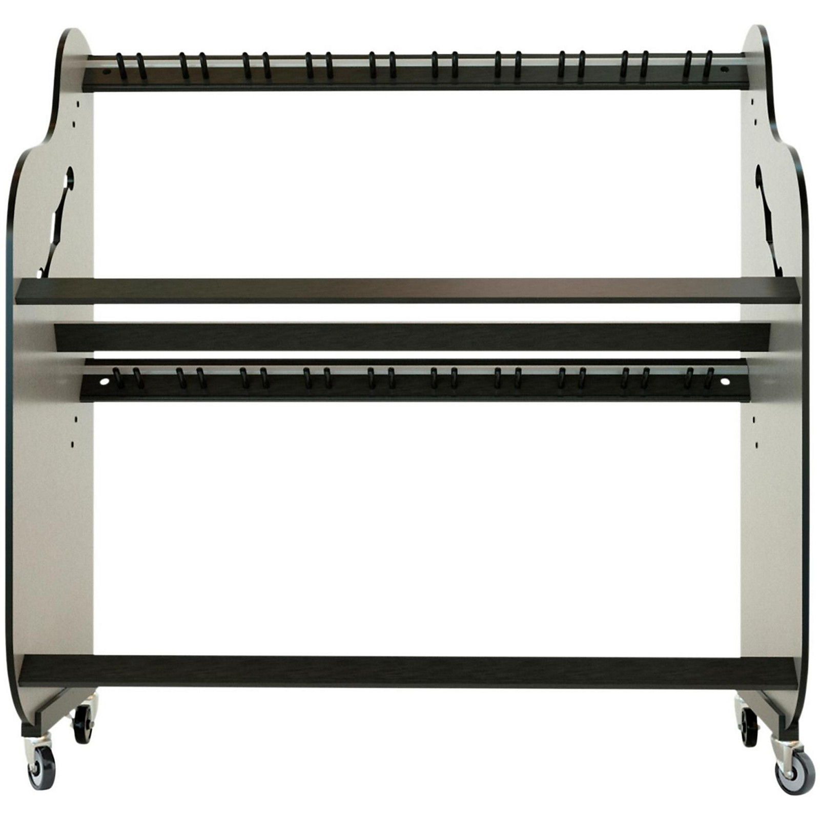 A&S Crafted Products Band Room Double-Stack Guitar Shelf Rack