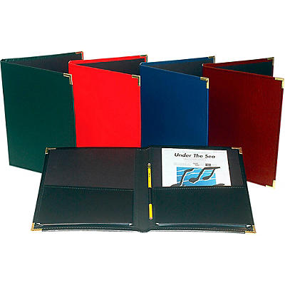 """Marlo Plastics Band and Orchestra Rehearsal Folder 12"""" x 14"""" with Brass Corners and Pencil Loop"""