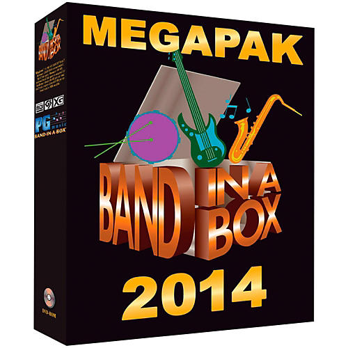 PG Music Band-in-a-Box 2014 MEGAPAK (Windows DVD-ROM)