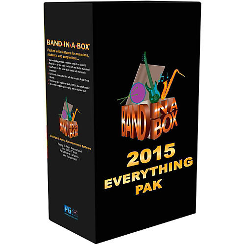 PG Music Band-in-a-Box 2015 EverythingPAK (Win-Portable Hard Drive)