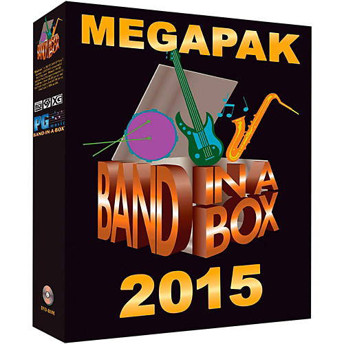 PG Music Band-in-a-Box 2015 MEGAPAK (Windows DVD-ROM)