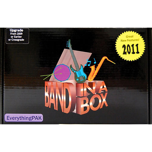 PG Music Band-in-a-Box Pro EverythingPAK 2011 MAC Upgrade from any Version