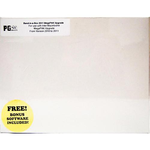 PG Music Band-in-a-Box Pro MegaPAK 2011 MAC Upgrade (Req 2010 Edn.)