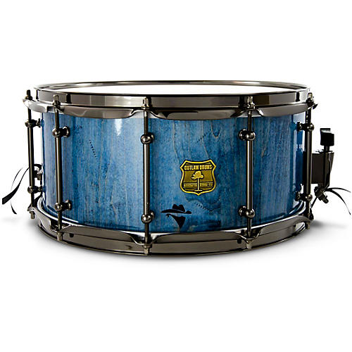 OUTLAW DRUMS Bandit Series Snare Drum with Black Hardware 14 x 6.5 in. Bandit Blue