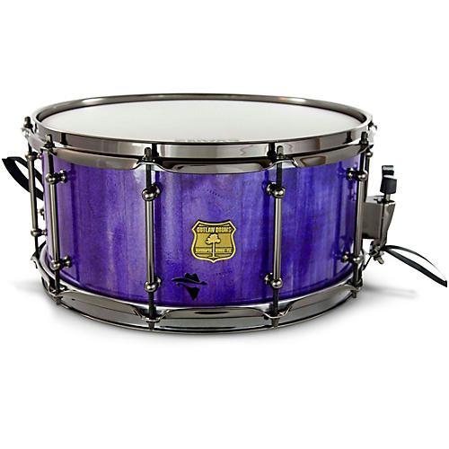 OUTLAW DRUMS Bandit Series Snare Drum with Black Hardware 14 x 6.5 in. Perilous Purple Sparkle